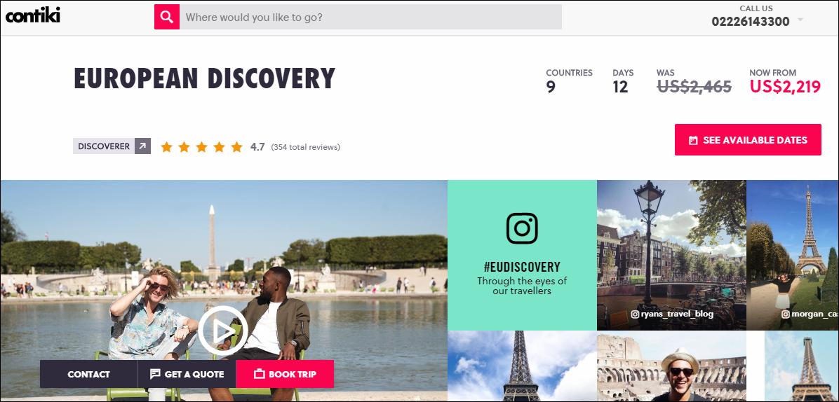 Contiki European Discovery