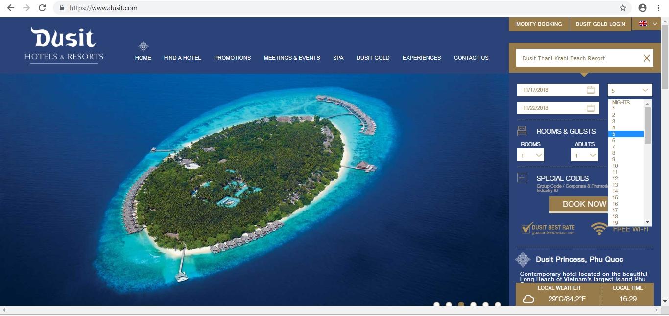 Dusit Homepage