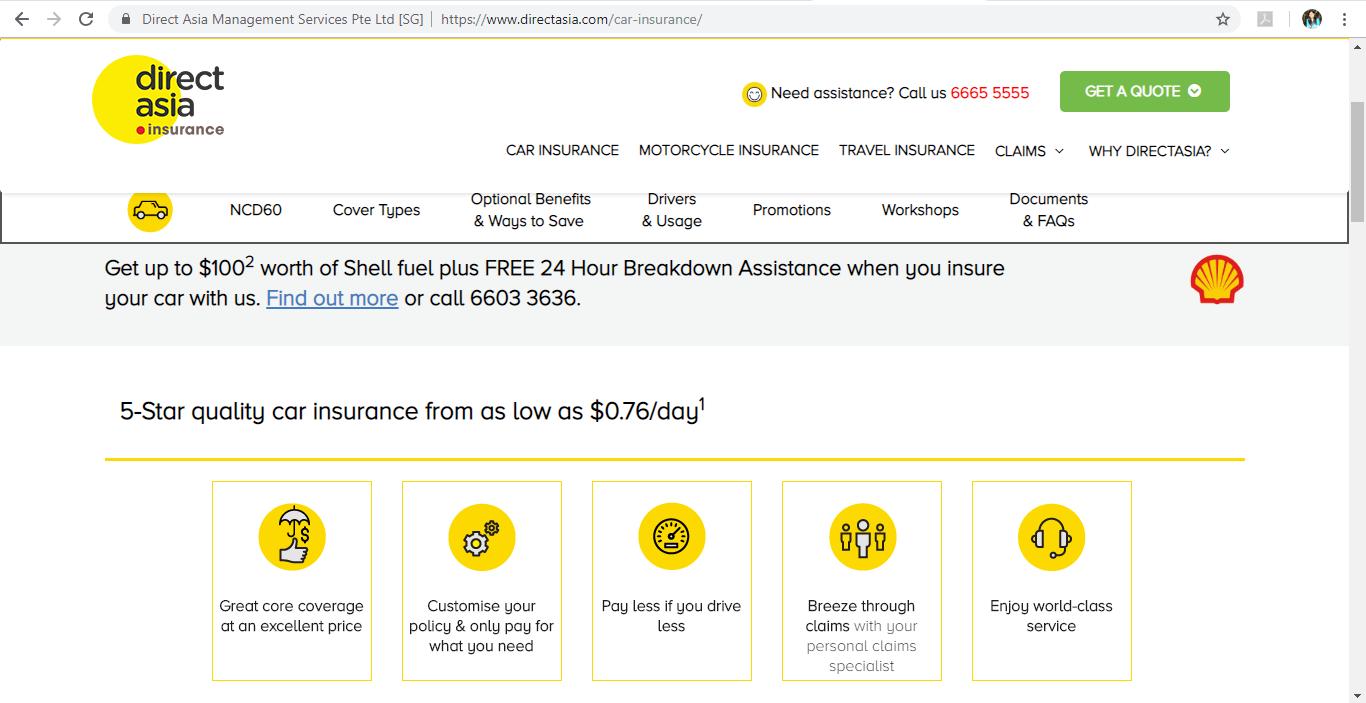 Direct Aisa Insurance Car Insurance