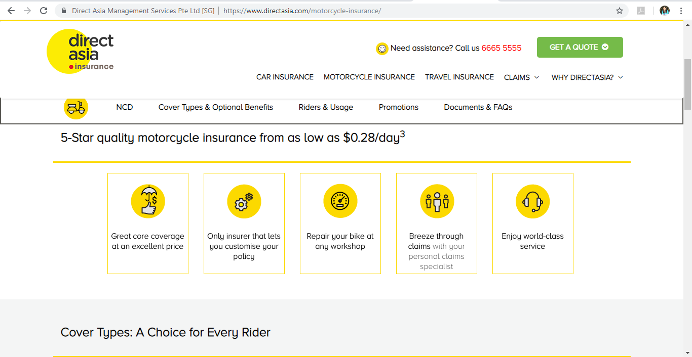 Direct Asia Motorcycle Insurance