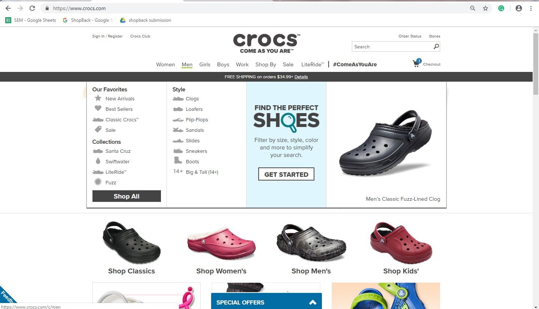 Crocs' Men