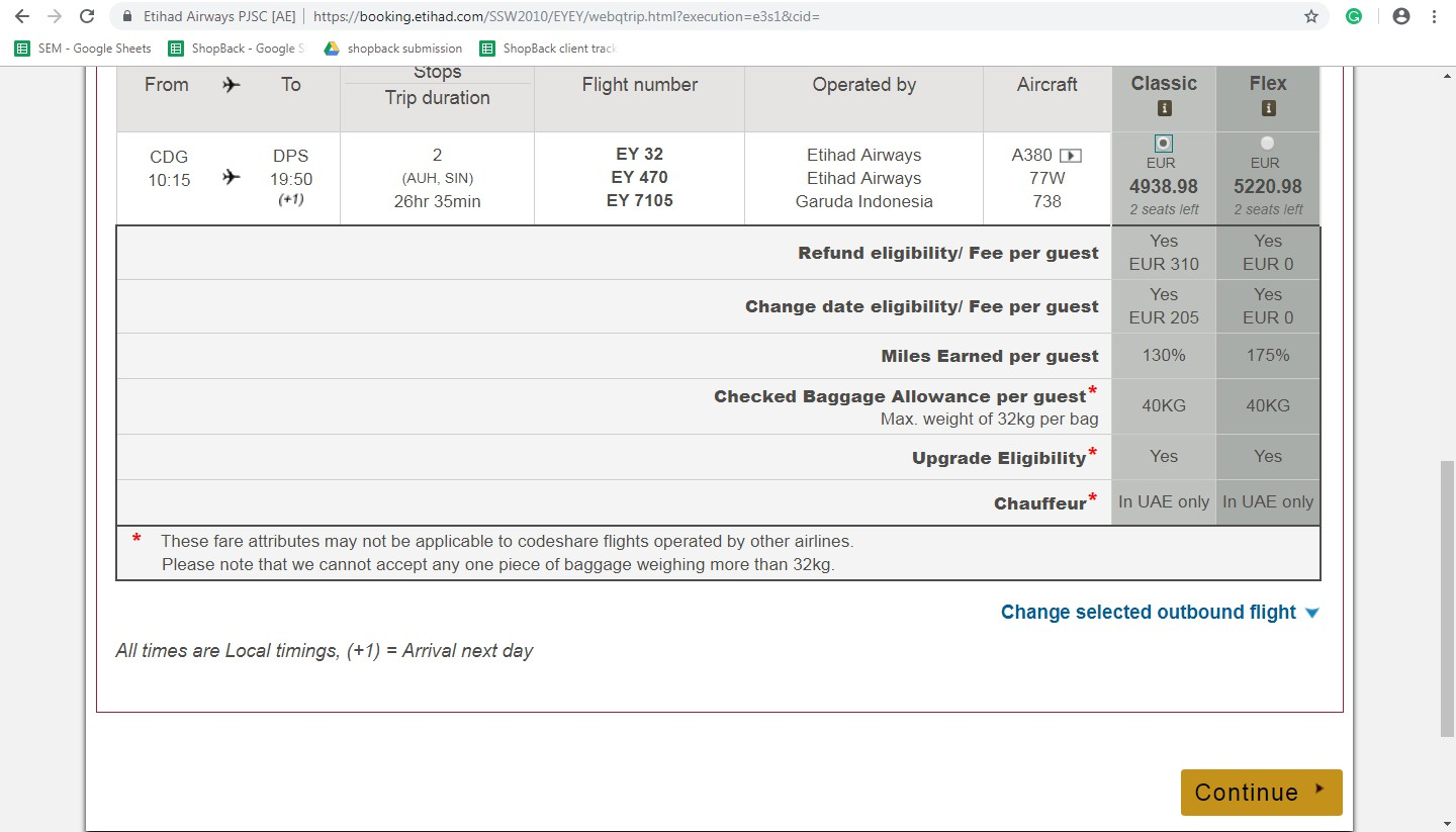 Booking on Etihad Airways Step 5