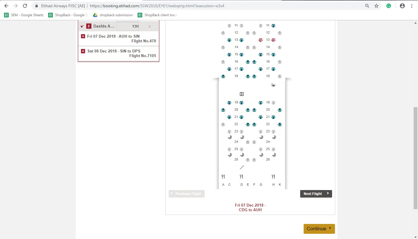 Booking on Etihad Airways step 7