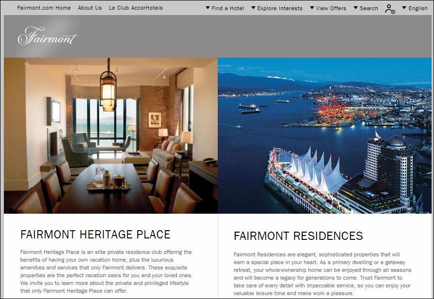 Fairmont Hotels Residences