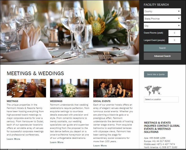 Fairmont Hotels events