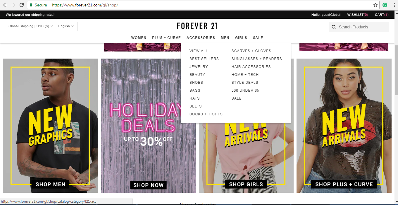 Forever 21 accessories