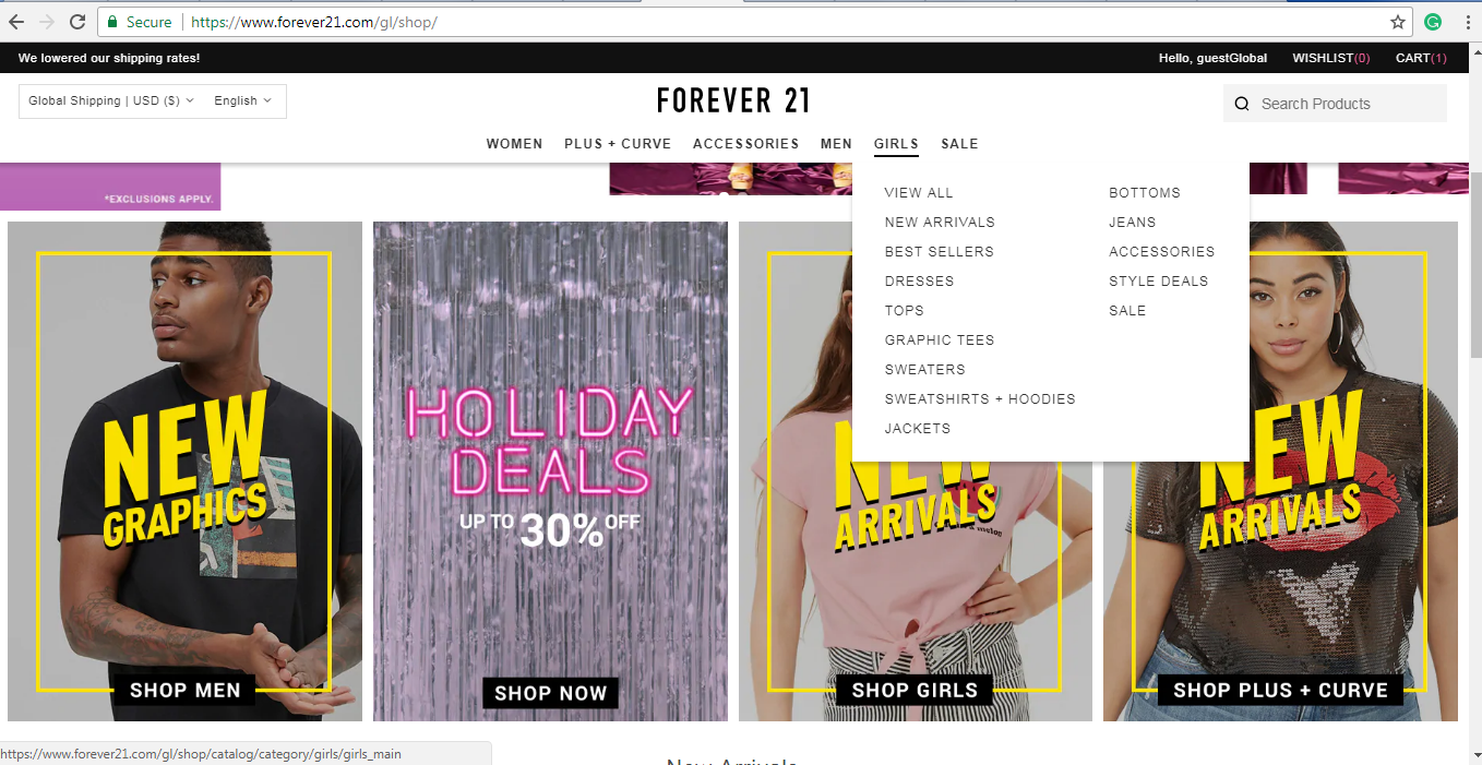Forever 21 girls products
