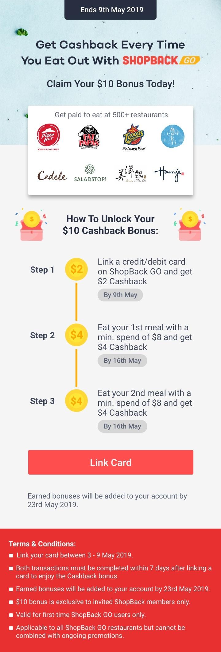 ShopBack GO Sign Up Bonus