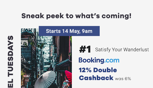Booking.com 12% Double Cashback