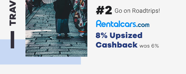 RentalCars 8% Upsized Cashback