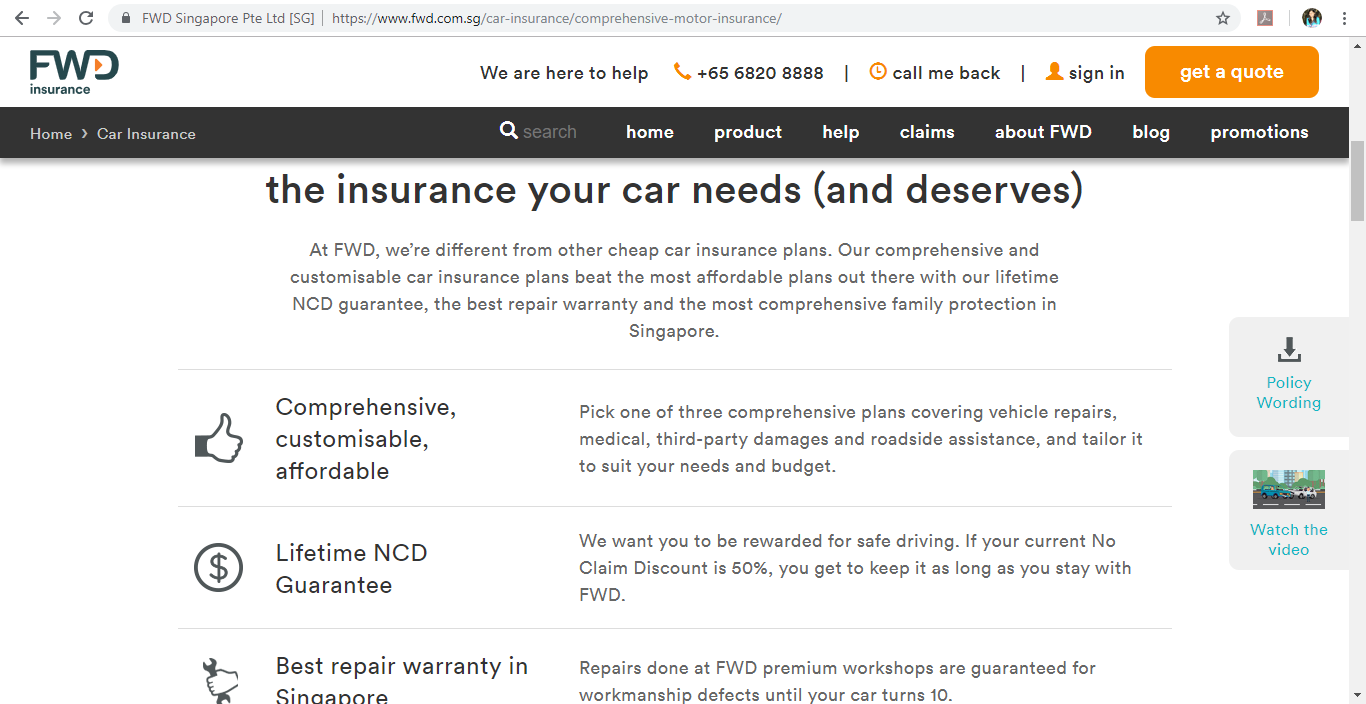 FWD Insurance car insurance
