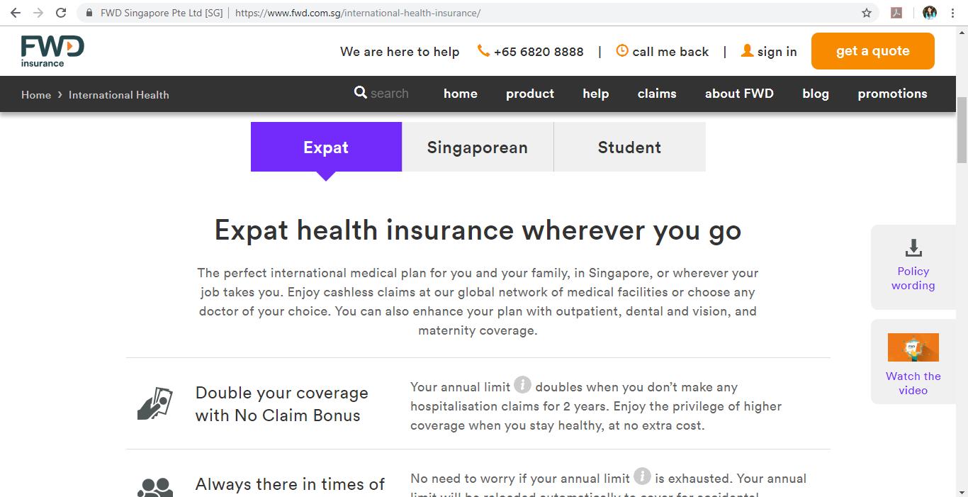 FWD Insurance health insurance