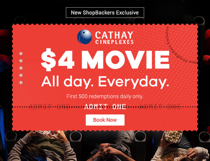 Cathay Cineplexes $4 Cashback