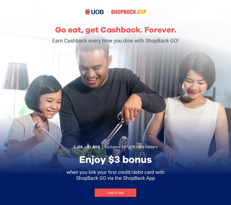 ShopBack GO x UOB $3 Cardlink Bonus