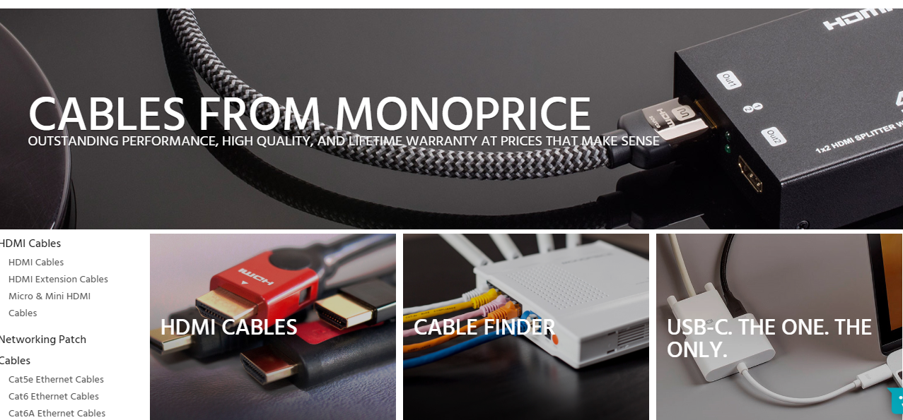 Monoprice cables