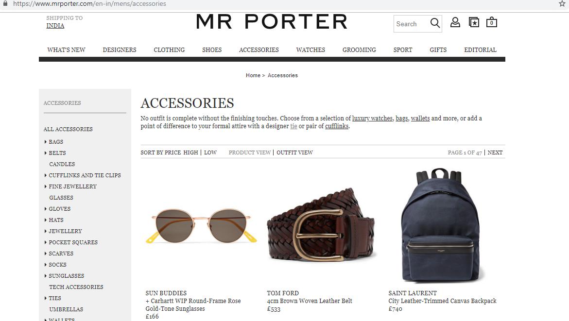 Mr Porter accessories