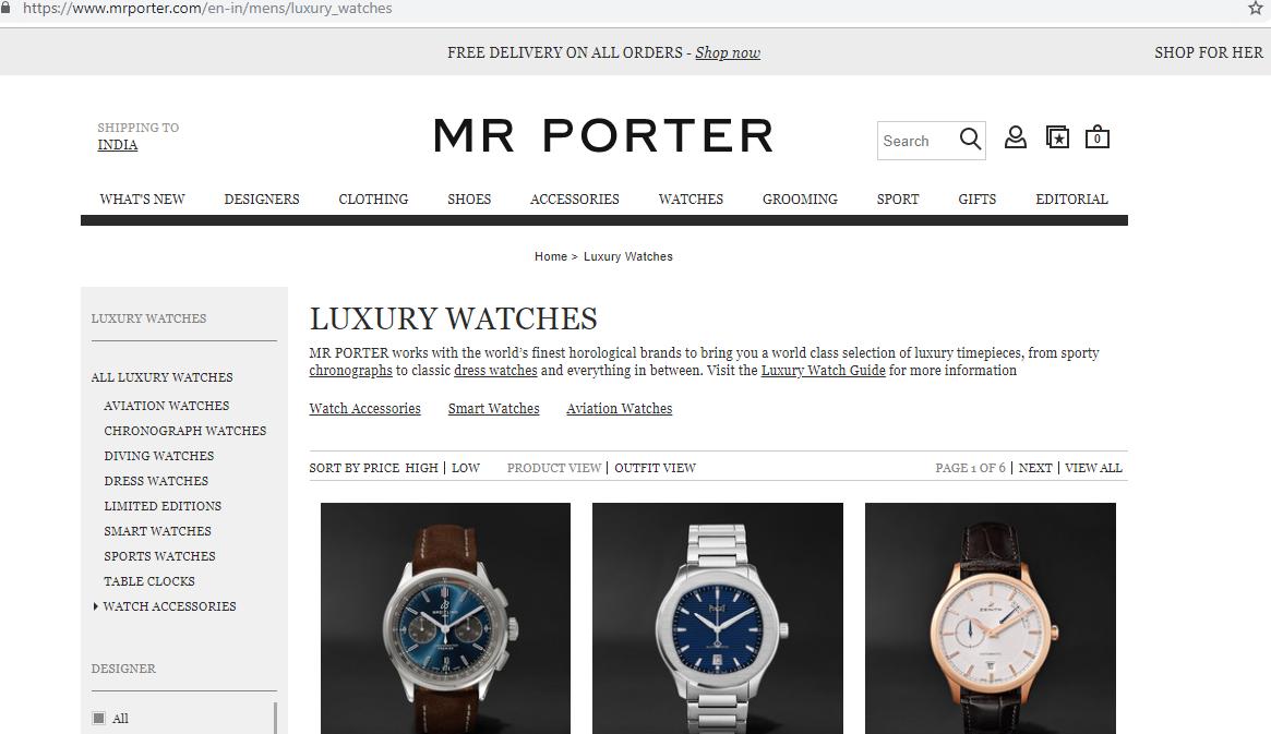 Mr Porter watches