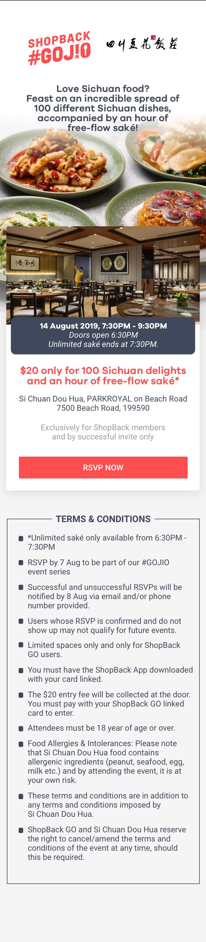 ShopBack GO JIO - Si Chuan Dou Hua