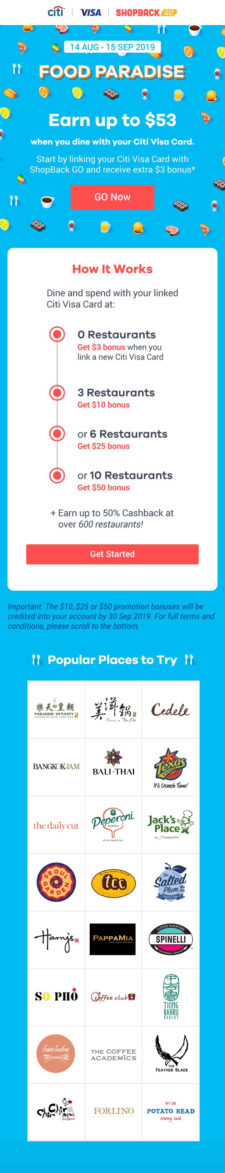 ShopBack GO - Citi Food Paradise
