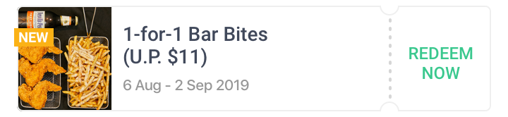 1-for-1 Bar Bites at The Autobus
