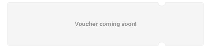 Voucher coming soon!