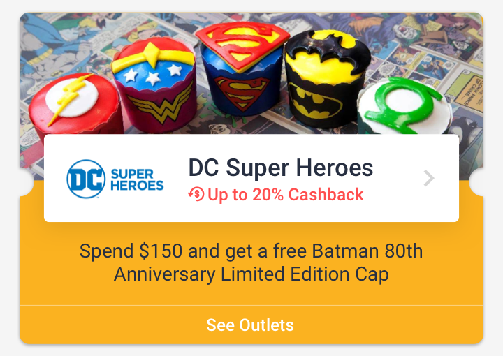 Spend $150 and get a free Batman 80th Anniversary Limited Edition Cap at DC Super Heroes