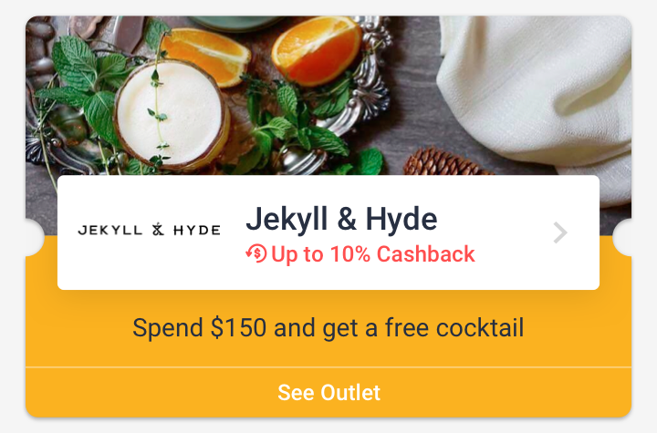 Spend $150 and get a free cocktail at Jekyll & Hyde