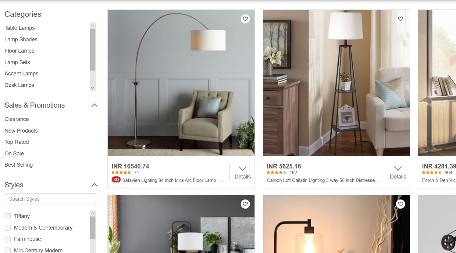 Search results for lamps.