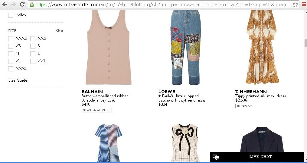Product catalogue of women s clothes.