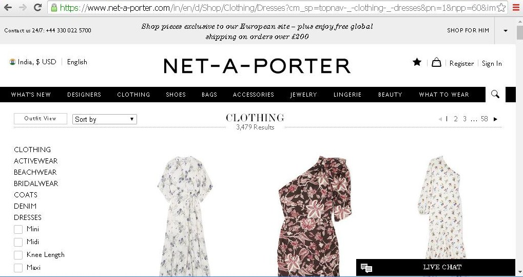 Search results for women s clothing on NET-A-PORTER.