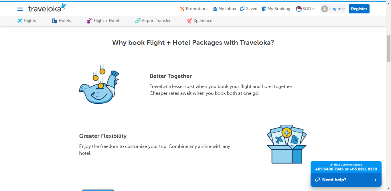 Details on flight + hotel packages with Traveloka.