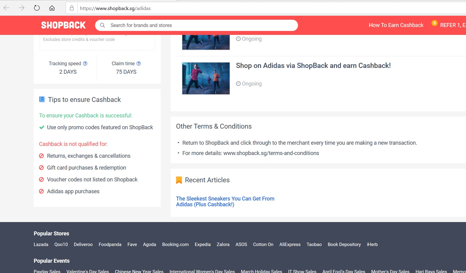 Adidas  terms and conditions.