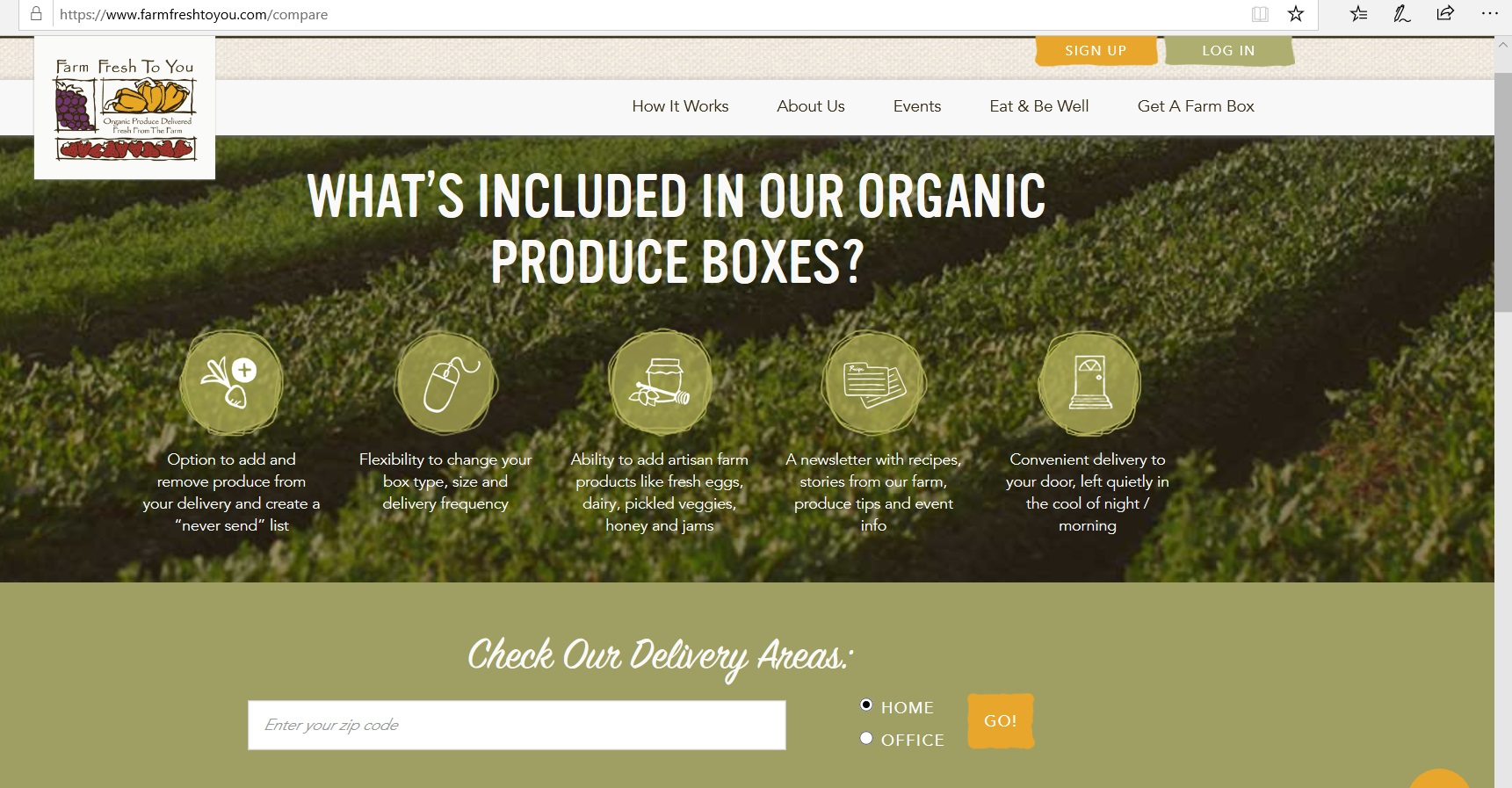 Infographics on how organic produce boxes work.