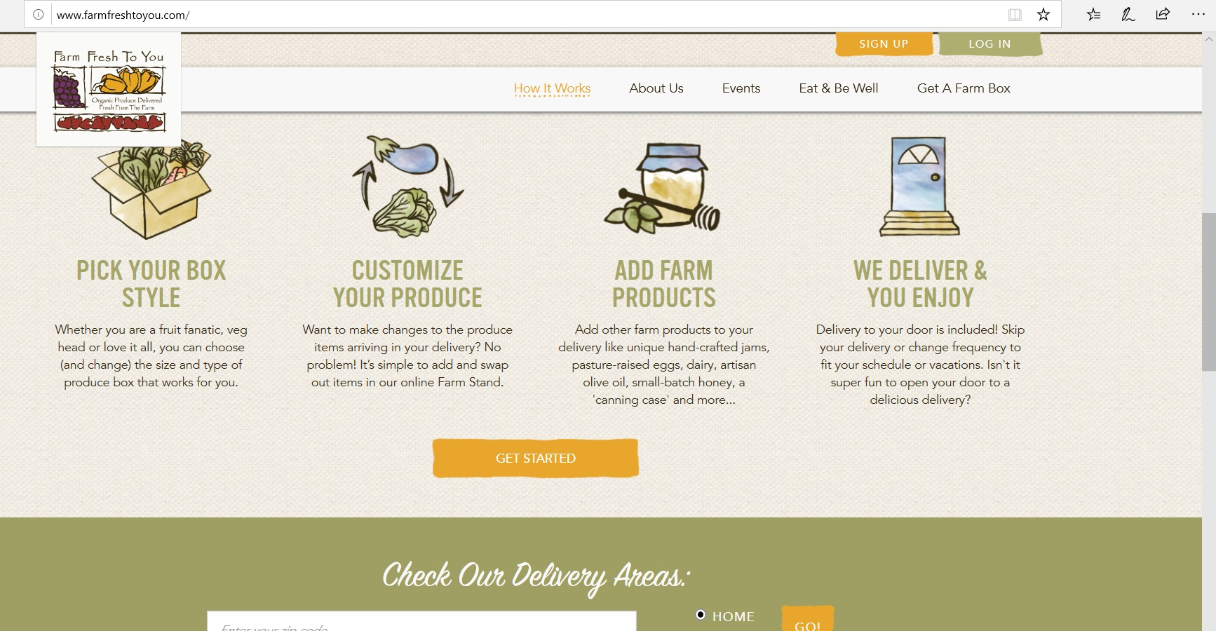 Infographics on how to shop at Farm Fresh To You.