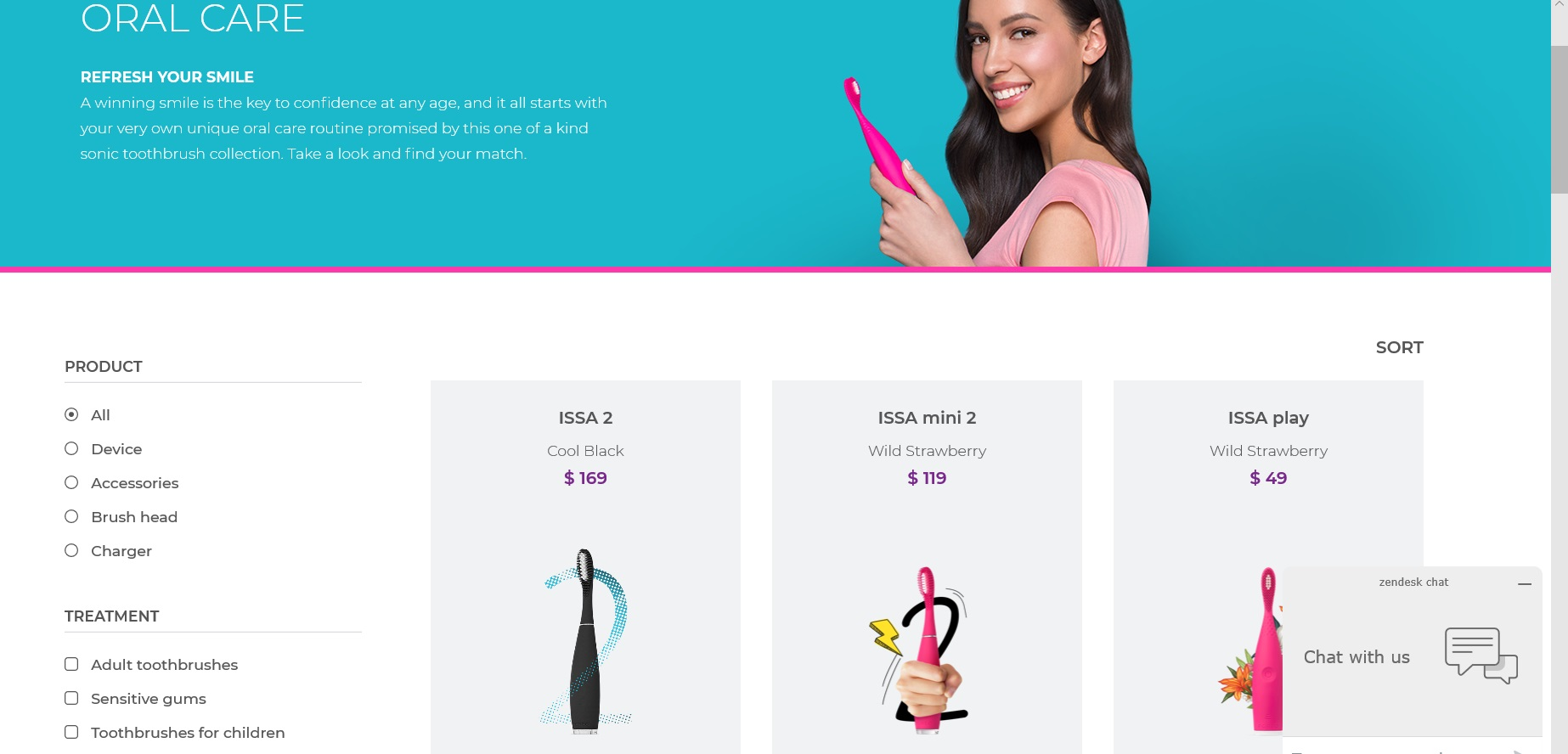Catalogue of FOREO oral care products.