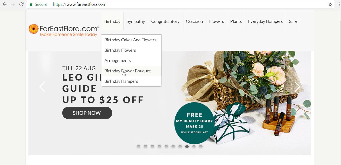 FarEastFlora.com website homepage.