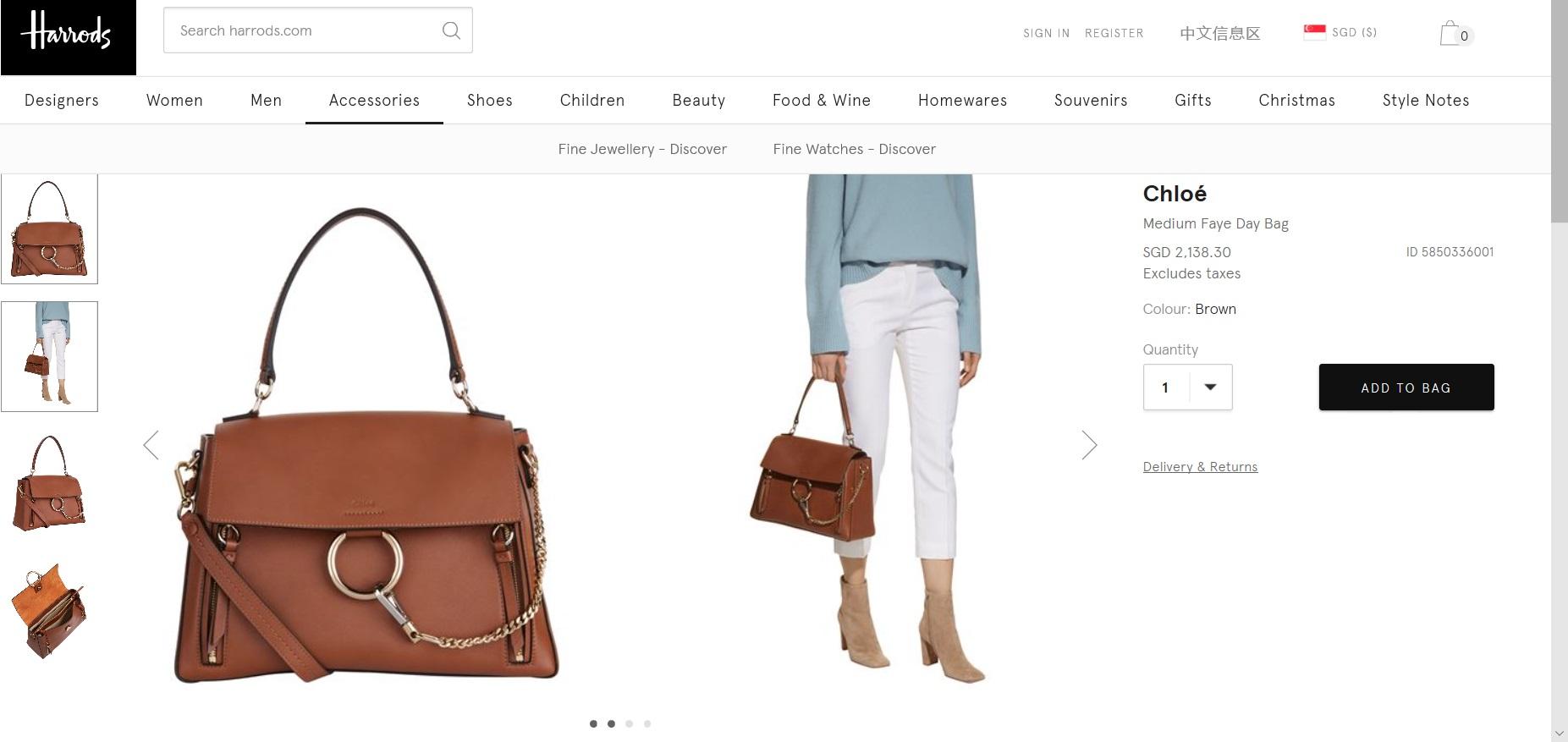 Product description of a women s bag.