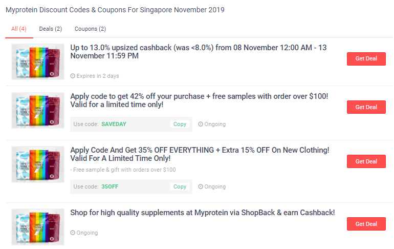 Myprotein deals and coupons on ShopBack.