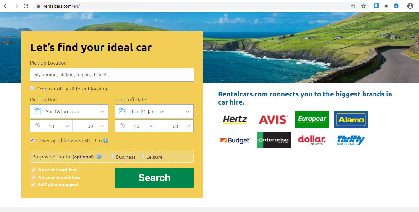 Search engine to find your ideal car.