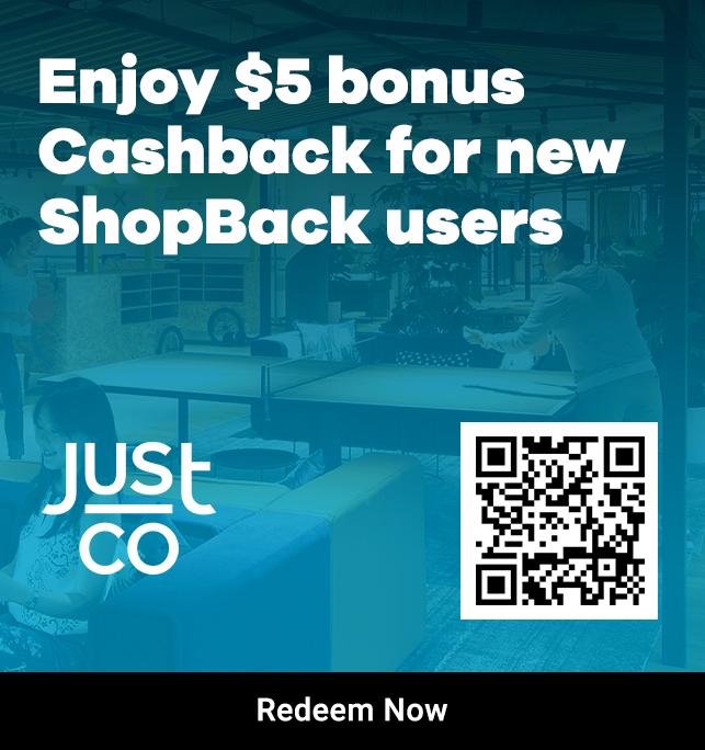 $5 bonus Cashback for new Shopback users (JustCo)