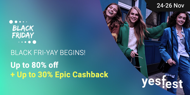 Up to 90% off + Up to 30% Upsized Cashback!