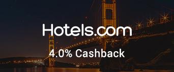 Hotels.com 4% Cashback