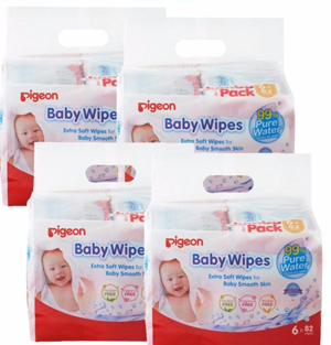 Pigeon Baby Wipes 82s x 24packs