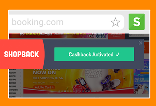 Use the ShopBack search bar or extension to qualify for Cashback