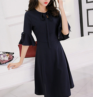 Korean half-sleeve dress