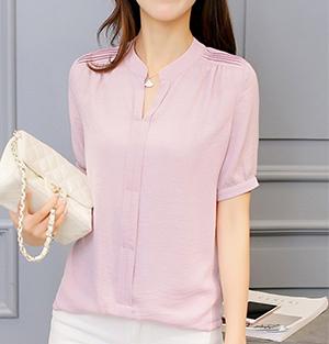 Chiffon Shirt - Dark Pink
