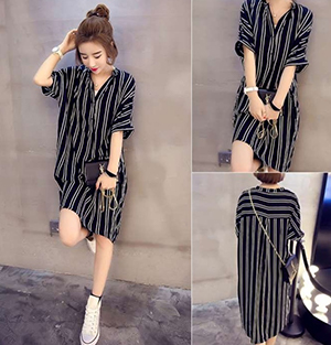 Loose Shirt Dress