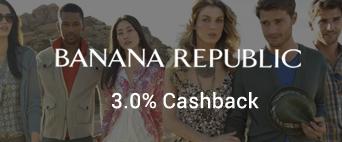 Banana Republic 3.0% Cashback