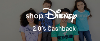 Disney Store 2.0% Cashback