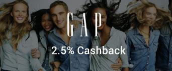 Gap 2.5% Cashback